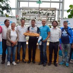 FOTO: V Dobrovniku predstavili 24-urno kolesarsko dirko in Marka Baloha pospremili na dirko po Ameriki